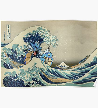 The Great Wave Off Gyarados Poster