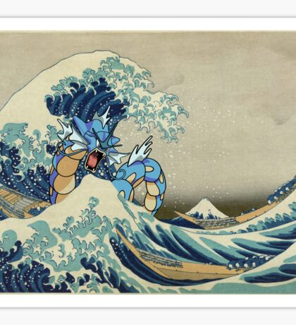 The Great Wave Off Gyarados Sticker