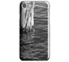 Single Old Piling 4 BW iPhone Case/Skin