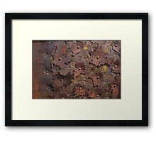 Color of Steel Framed Print