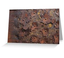 Color of Steel Greeting Card