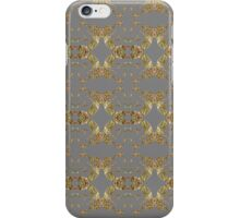 Audrey Gold Anthracite Pattern iPhone Case/Skin