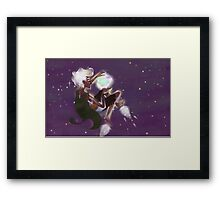 space elf exploring for light Framed Print