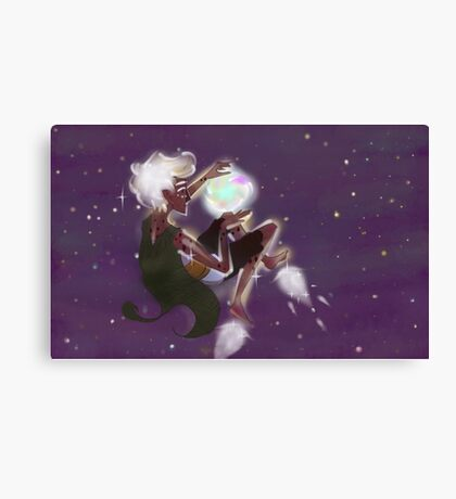 space elf exploring for light Canvas Print