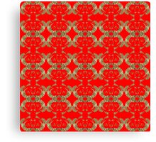 Audrey Gold Red Pattern Canvas Print