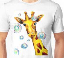 Bubbles and A Giraffe Unisex T-Shirt