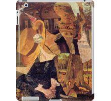 Van Gogh Contemplating painting. iPad Case/Skin