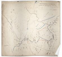 Civil War Maps 1855 Topographical sketch of the battlefield of Chaplin hills near Perryville Kentucky October 9th 1862 Poster