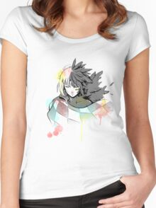 Howl watercolor  Women's Fitted Scoop T-Shirt