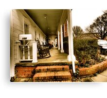 Rockin' the NuWray Inn's Historic Southern-Style Porch Canvas Print