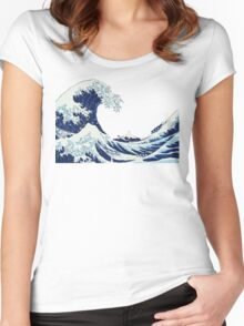 The Big Wave Women's Fitted Scoop T-Shirt