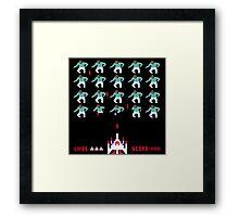 Space Invaders Meets Drake Framed Print