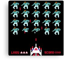Space Invaders Meets Drake Canvas Print