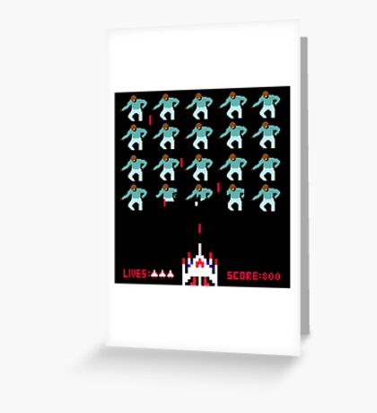 Space Invaders Meets Drake Greeting Card