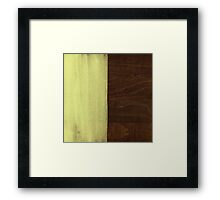 Yellow Paint on Wood Framed Print