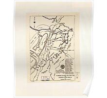 Civil War Maps 1889 Vicksburg National Military Park and Vicksburg National Cemetery Poster