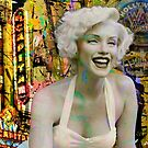 Marilyn on Hollywood Blvd. by Larry Costales