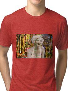 Marilyn on Hollywood Blvd. Tri-blend T-Shirt
