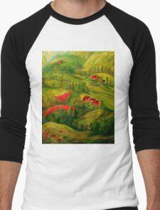 Tuscany at Dawn Men's Baseball ¾ T-Shirt