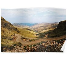 Sani Pass, Lesotho and South Africa Poster