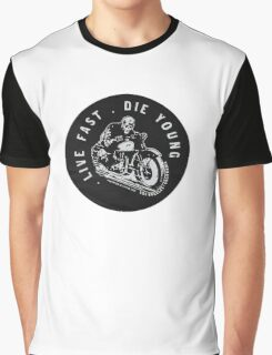 BRANDY MELVILLE LIVE FAST DIE YOUNG Graphic T-Shirt