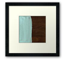 Blue Paint on Wood Framed Print