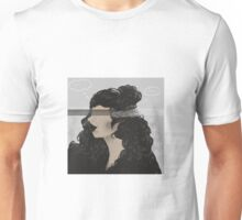 Woman Drowing in Thoughts Unisex T-Shirt