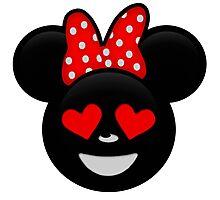 Minnie Emoji - In Love Photographic Print