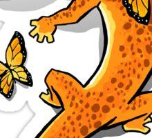 Gecko and butterflies Sticker