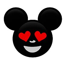 Micky Emoji - In Love Photographic Print
