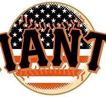 San Francisco Giants Flag Logo by j423985