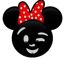 Minnie Emoji - Wink by LauryQuinn