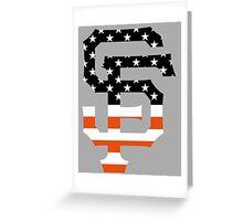 San Francisco Giants Flag Logo Greeting Card