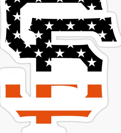 San Francisco Giants Flag Logo Sticker