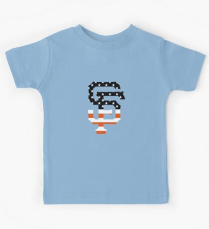 San Francisco Giants Flag Logo Kids Tee