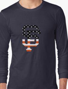 San Francisco Giants Flag Logo Long Sleeve T-Shirt