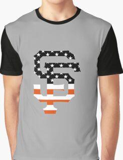 San Francisco Giants Flag Logo Graphic T-Shirt