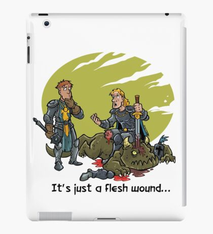 It just a flesh wound... iPad Case/Skin