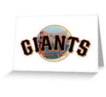 San Francisco Giants Skyline Logo Greeting Card
