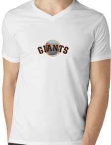 San Francisco Giants Skyline Logo Mens V-Neck T-Shirt