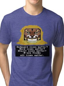 M'aiq on #BLM (TES Lore) Tri-blend T-Shirt