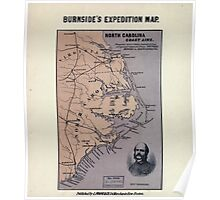 Civil War Maps 1201 North Carolina coast line Showing every inlet sound bay of special interest from Fortress Monroe to South Carolina Poster