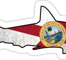 Florida flag shark outline Sticker