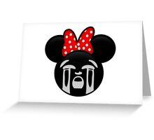 Minnie Emoji - Bawling Greeting Card