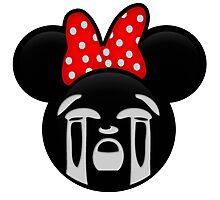 Minnie Emoji - Bawling Photographic Print