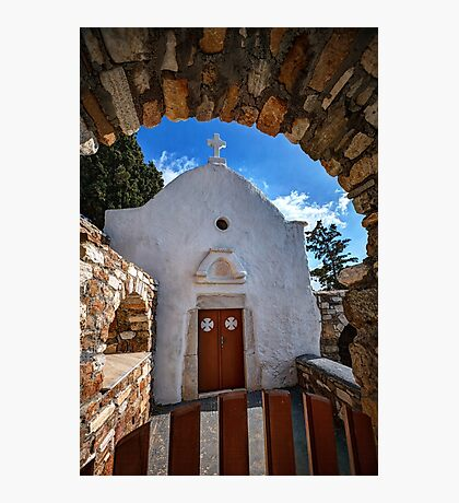 Small traditional Greek chapel Photographic Print