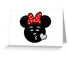 Minnie Emoji - Sweet Kiss Greeting Card