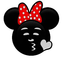 Minnie Emoji - Sweet Kiss Photographic Print