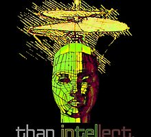 """""""Nothing is sexier than intellect.""""© by Lisa Clark - Thinker Collection STEM Art and MORE"""