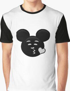 Micky Emoji - Sweet Kiss Graphic T-Shirt
